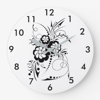 Floral explosion… large clock