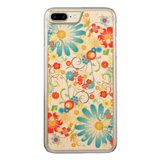 Floral Explosion of Color Carved iPhone 8 Plus/7 Plus Case