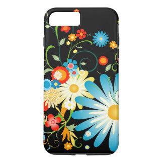 Floral Explosion of Color on Black iPhone 8 Plus/7 Plus Case