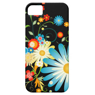 Floral Explosion of Color on Black iPhone SE/5/5s Case