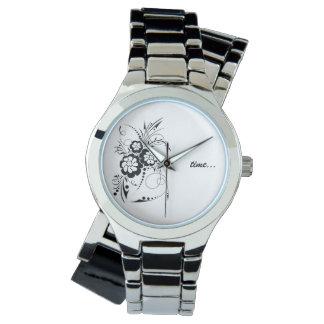 Floral explosion… wrist watch