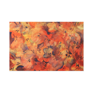 Floral Expression Original Painting by Artsy Jess Canvas Print