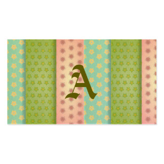 Floral fabric patchwork retro trendy girly shabby business card
