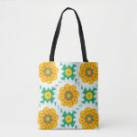 Floral fabric stock market in green target and tote bag