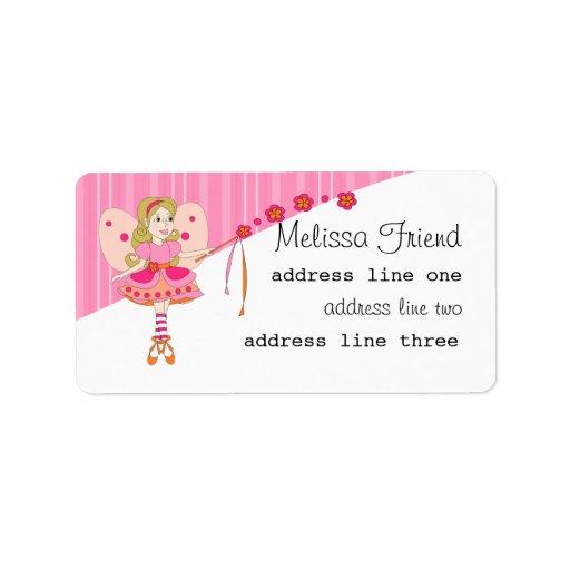 Floral Fairy Address Label