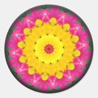 Floral Fairy Mandala Classic Round Sticker