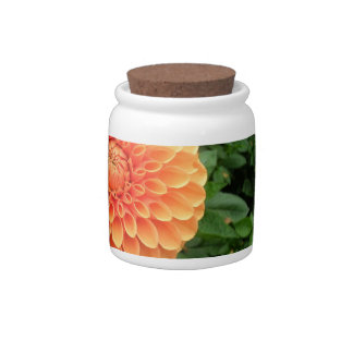 floral fall spring autumn candy jar with mums
