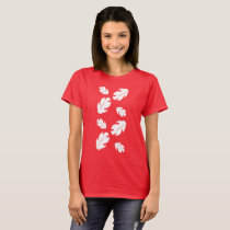 Floral Falling Leaves T-Shirt