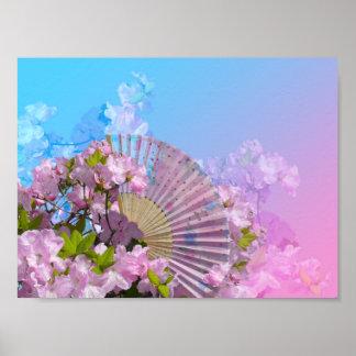 Floral Fan Mini Poster