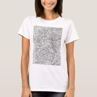 Floral Fancy Coloring Design T-Shirt