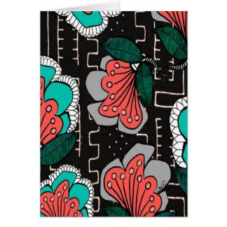 Floral fangoso tarjeta de felicitación