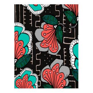 Floral fangoso postal