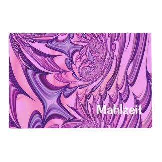 Floral Fantasy 02 pink Laminated Placemat