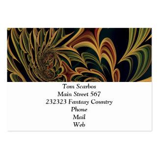 Floral Fantasy 03 Large Business Cards (Pack Of 100)