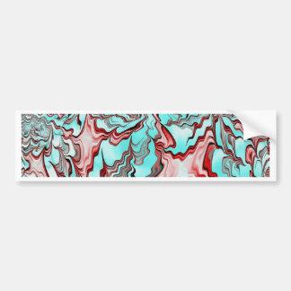 Floral Fantasy 04 aqua Car Bumper Sticker