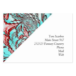 Floral Fantasy 04 aqua Large Business Cards (Pack Of 100)