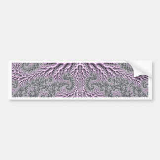 floral fantasy 05 lilac car bumper sticker