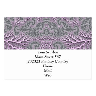 floral fantasy 05 lilac large business cards (Pack of 100)