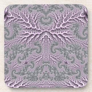 floral fantasy 05 lilac beverage coasters