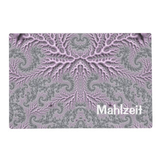 floral fantasy 05 lilac laminated placemat