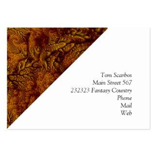 floral Fantasy 07 golden Large Business Cards (Pack Of 100)