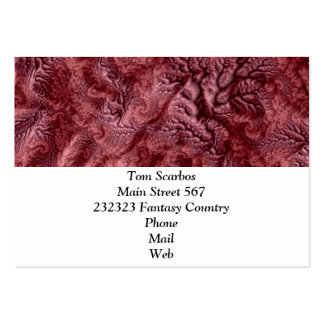 floral Fantasy 07 red Large Business Cards (Pack Of 100)