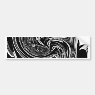 Floral Fantasy 09 black white Car Bumper Sticker