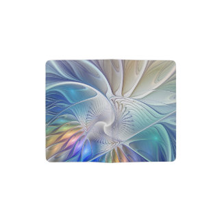 Floral Fantasy, abstract and modern Fractal Art Pocket Moleskine Notebook