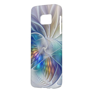 Floral Fantasy, abstract and modern Fractal Art Samsung Galaxy S7 Case