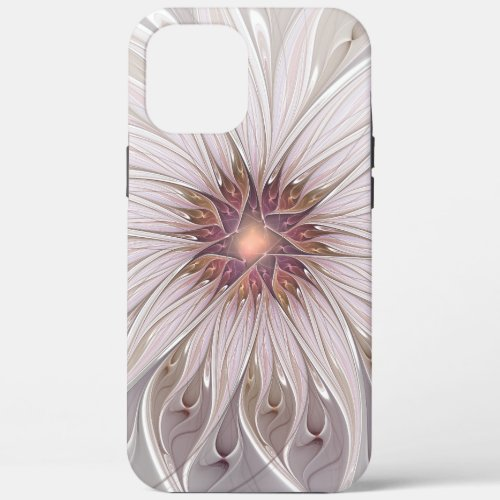 Floral Fantasy, Abstract Modern Pastel Flower Phone Case
