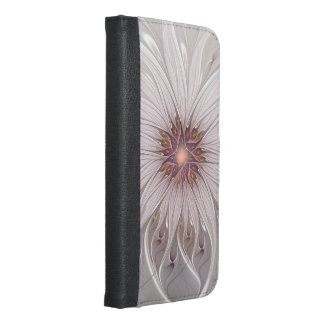 Floral Fantasy, Abstract Modern Pastel Flower iPhone 6/6s Plus Wallet Case