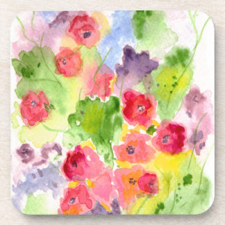 Floral Fantasy Art Coasters Cork-back
