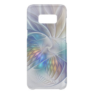 Floral Fantasy, Colorful Abstract Fractal Flower Uncommon Samsung Galaxy S8 Case