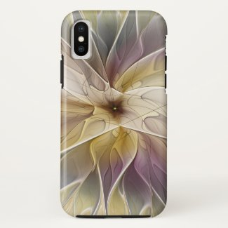 Floral Fantasy Gold Aubergine Abstract Fractal Art Case-Mate iPhone Case