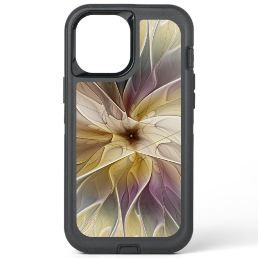 Floral Fantasy Gold Aubergine Abstract Fractal Art OtterBox Defender iPhone 12 Pro Max Case