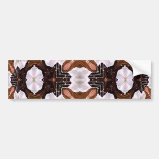 Floral Fantasy Kaleidoscope Mandala Bumper Sticker