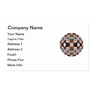 Floral Fantasy Kaleidoscope Mandala Double-Sided Standard Business Cards (Pack Of 100)