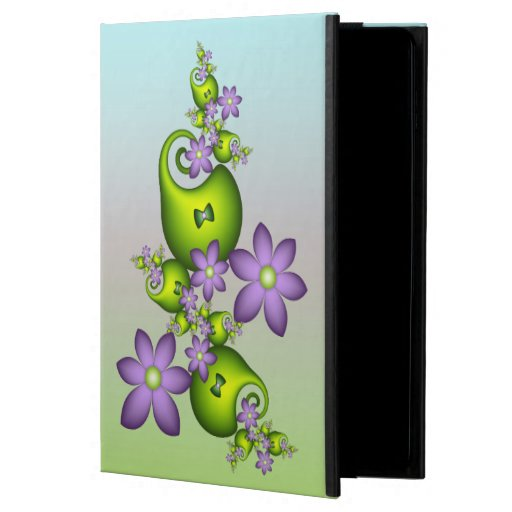 Floral Fantasy Lilac Flowers Green Shapes Fractal Powis iPad Air 2 Case