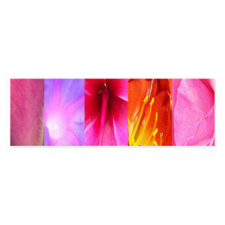 Floral Fantasy, Mini Bookmarks Double-Sided Mini Business Cards (Pack Of 20)
