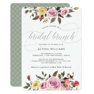 Floral Fantasy | Modern Watercolor Bridal Brunch Card