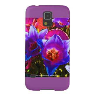 Floral Fantasy Samsung Galaxy S5 Plum Accents Case For Galaxy S5
