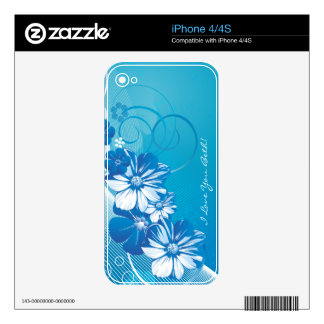 Floral Fashion 10 Phone Skin Decals For The iPhone 4S