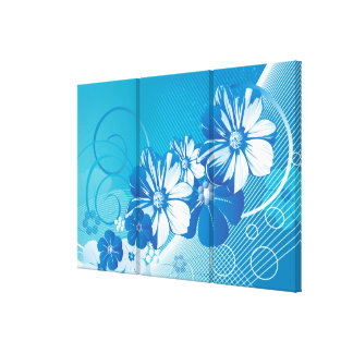 Floral Fashion 10 Wrapped Canvas
