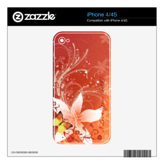 Floral Fashion 11 Phone Skin Skin For The iPhone 4S
