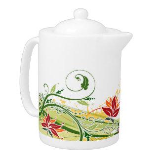 Floral Fashion 1 Teapot