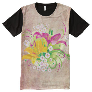 Floral Fasion 15 Options All-Over Print T-shirt