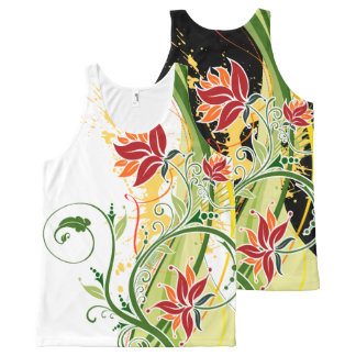 Floral Fasion 1 All-Over-Print Tank Top