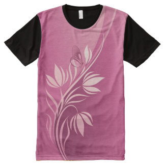 Floral Fasion 2-4 Image Options All-Over Print T-shirt