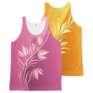 Floral Fasion 2-4 Image Options All-Over-Print Tank Top