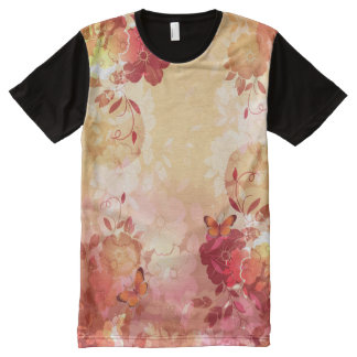 Floral Fasion 6A All-Over Print T-shirt